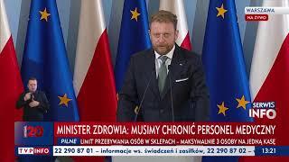 Konferencja ministra zdrowia nt. zapotrzebowania i dostępności indywidualnych środków ochronnych