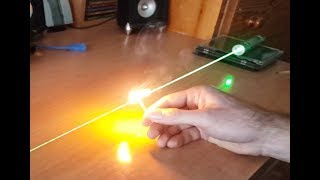 How To Focus Laser Pointer To Burn / Green And Red / With ZEUS LASERS