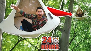 I Spent 24 Hours in a Tree Tent and You Won't Believe What Happened.. (WORLD'S CRAZIEST AIRBNB)