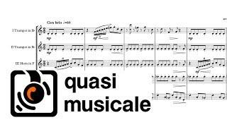 """Viktor's Tale"" Brass Quintet arr. Adrian Wagner (John Williams)"