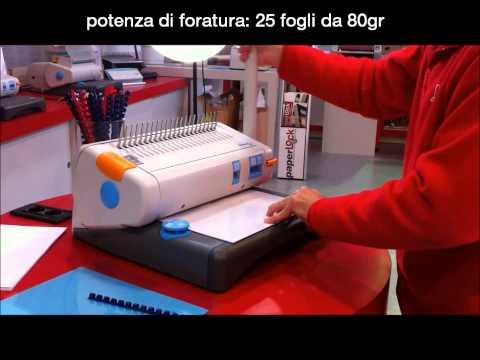 Rilegatrice manuale a dorsi plastici
