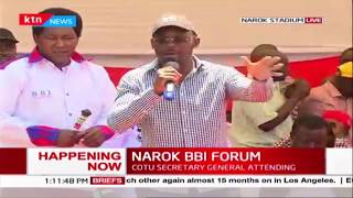 Senators Kajwang, Malala, Poghisio, Msuruve, Outa express their concerns at Narok BBI Forum