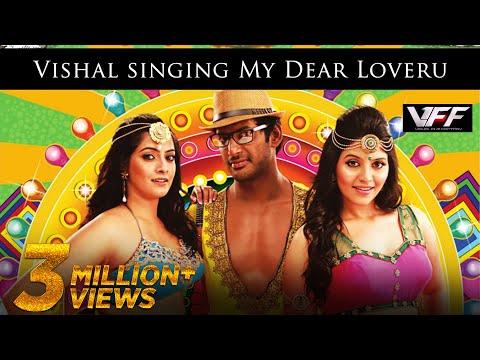 Vishal singing My Dear Loveru - Madha Gaja Raja Official Promo Video Song in HD