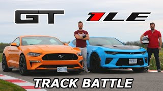 2019 Mustang GT PP2 vs Camaro SS 1LE - TRACK REVIEW // DRAG RACE & LAP TIMES
