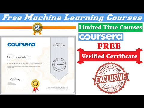 Coursera Machine Learning Free Courses With Certificates   100 ...