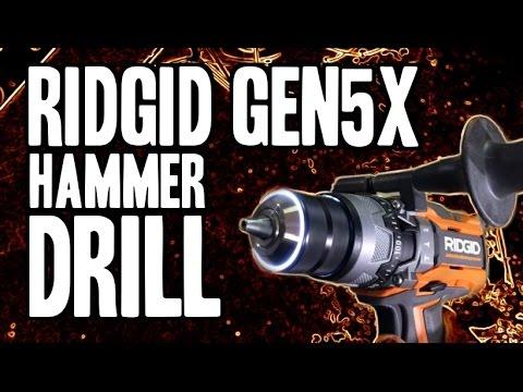 RIDGID Gen5X Hammer Drill R8611503 – LED Chuck & 780 in-lbs MAX TORQUE!!!