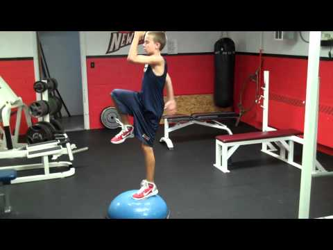 Reverse Lunge and Step Up - On BOSU