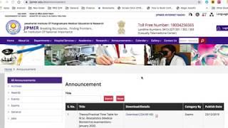 JIPMER  Karaikal 2019-2020 || Nursing Officer 150 Permanent Recruitment|| Exam date| Syllabus|