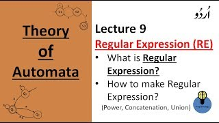 Lecture 9: regular expression in automata ,how to make RE, examples, power, concatenation, Union