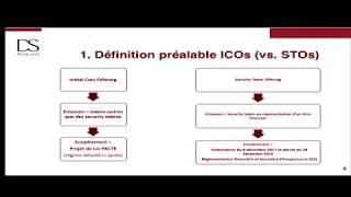"""Intervention sur la future Loi Pacte et l'encadrement des ICOs à la conférence """"Blockchain"""