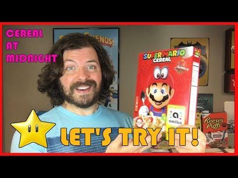 Let's Try Super Mario Cereal! (Nintendo Kelloggs Breakfast Review)