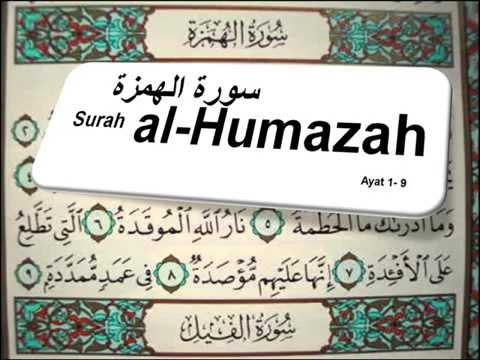 104 Al Humazah Pengumpat Arab Latin Dan Terjemahan