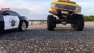 R/C truck recovers crashed vehicle off New Orleans levee