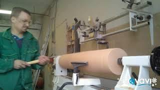 Изготовление ножки для пристеного столика на токарном станке JET jwl-1443