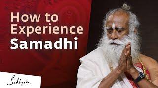 How to Experience Samadhi