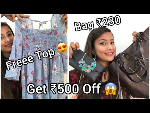 CLUB FACTORY HAUL   Free Top worth ₹600 😍  Jewellery, HandBag   coupon code- 3629816   #clubfactory