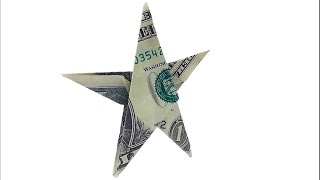 Money Origami Star - Dollar Origami ⭐⭐🌟🌟 - Designed By John Montroll