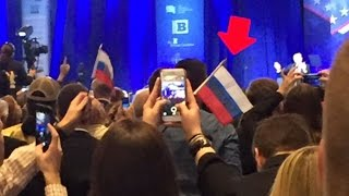 Conservatives Wave Russian Flags Before Trump