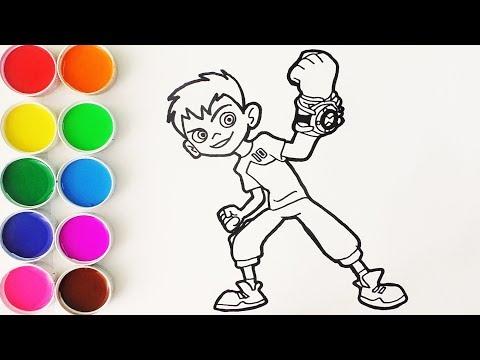 Cómo Dibujar y Colorear a Ben 10 - Dibujos Para Niños - Learn Colors / FunKeep
