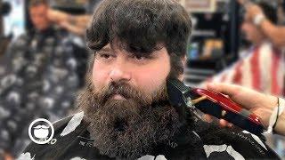 First Haircut & Beard Trim In Months Transformation | The Dapper Den Barbershop
