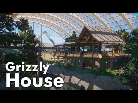 Planet Zoo Beta - Grizzly Bear House Speed Build