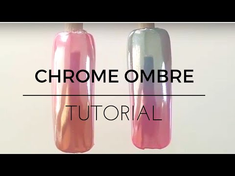 How to Chrome nails tutorial ombre gradient fade