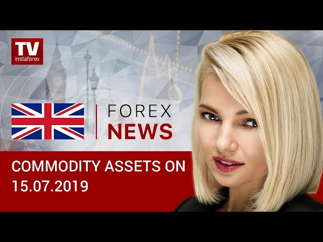 15.07.2019: Oil traders disappointed by GDP data from China (Brent, RUB, USD)