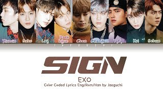 Exo 엑소 - Sign Color Coded S Eng Rom Han 가사