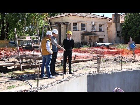 Avanza a gran ritmo la construcción de la nueva planta de bombeo de líquidos cloacales