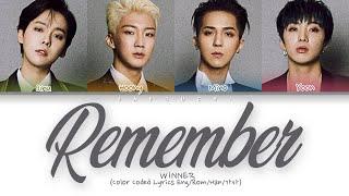 "WINNER(위너) ""Remember"" (Color Coded Lyrics   - YouTube"