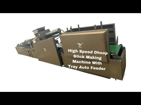 Kio Highspeed Fully Automatic Dhoop Stick Making Machine With Autofeeder