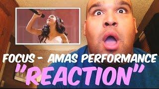 Ariana Grande - Focus AMAs Performance 2015 [REACTION]