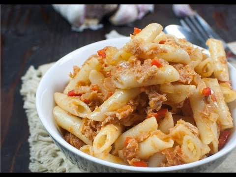 Pasta con salsa de atún