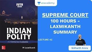 L42: Supreme Court   100 Hours - Laxmikanth Summary   UPSC CSE/IAS 2020   Sidharth Arora