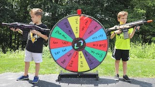 [Nerf Battle]  The Mystery Wheel Showdown (Twin Toys)