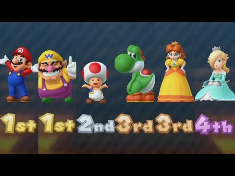 Mario Party 10 - All Characters - Coin Challenge #3