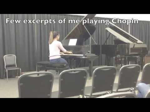 Excerpts of me playing Chopin Fantasie Impromptu in C# minor Op. 66 and Nocturne in E-flat Op. 9 No. 2.