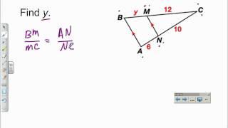 Using The Side Splitter Theorem