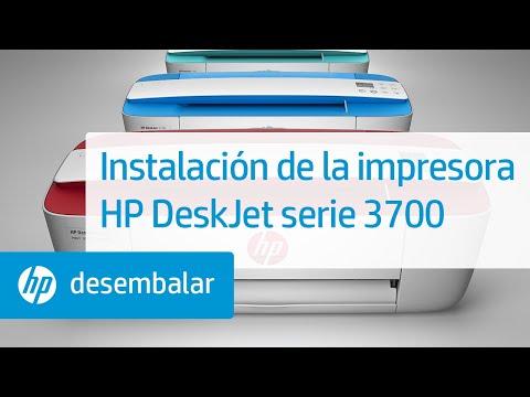 Instalación de la impresora HP DeskJet serie 3700