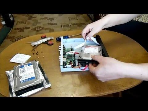 Видеорегистратор замена жесткого диска