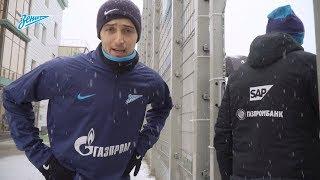 Реакция игроков «Зенита» на апрельский снегопад