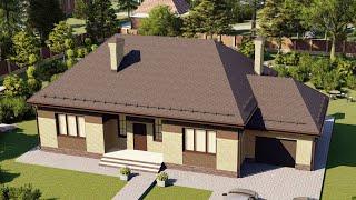 Проект дома 156-D, Площадь дома: 156 м2, Размер дома:  12,1x14,5 м