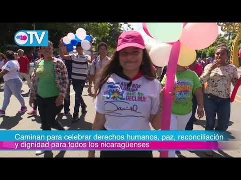 Caminan para celebrar derechos humanos, paz, reconciliación y dignidad para todos los nicaragüenses
