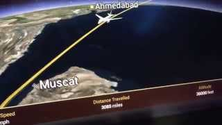 Flight map from Singapore to Abu Dhabi inflight EY473