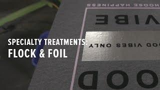 Specialty T-shirt Treatments: Flock & Foil