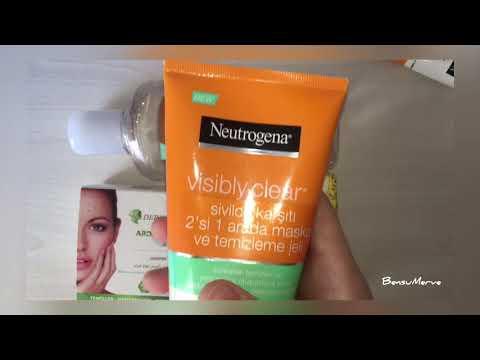 Sivilcelere kesin çözüm ! %100 iyileşecek NEUTROGENA kükürtlü sabun ardıç katranı sabunu kil maskesi