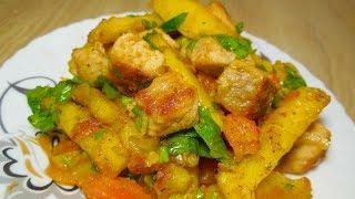 ✅Оджахури – грузинская кухня/жареное мясо с картофелем