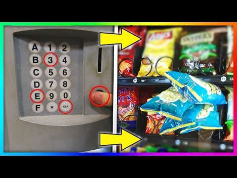 GET FREE STUFF FROM A VENDING MACHINE! (Life Hacks)