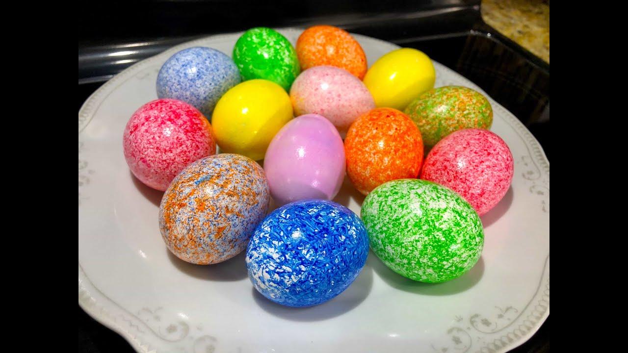 Сказочно Красивые Пасхальные яйца, красим за 1 минуту 3 яйца