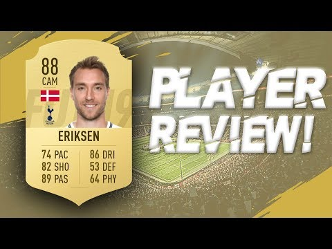 FIFA 19 - 88 RATED CHRISTIAN ERIKSEN PLAYER REVIEW | FIFA 19 ULTIMATE TEAM PLAYER REVIEW
